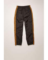 Acne Studios Striped Track Trousers black