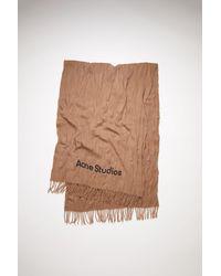 Acne Studios - Crinkled Wool Scarf caramel Brown - Lyst