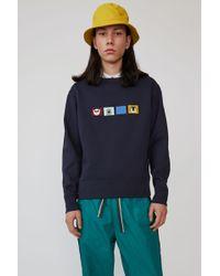 Acne Studios Regular Fit Sweatshirt navy Blue