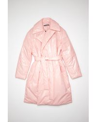 Acne Studios Fa-ux-outw000054 Blush Pink Padded Face Coat