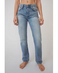 Acne Studios Classic Fit Jeans light Blue