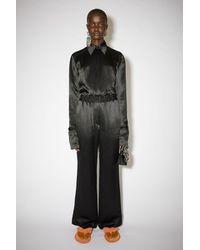 Acne Studios Fluid Satin Trousers - Black