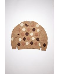 Acne Studios Fn-mn-knit000276 Brown/multi Crew Neck Sweater