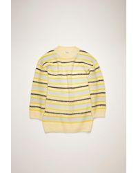 Acne Studios - Fn-wn-knit000185 Yellow/multi Striped Sweater - Lyst