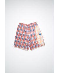 Acne Studios Shorts aus Flanell - Mehrfarbig