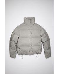 Acne Studios Printed Down Jacket - Gray