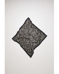 Acne Studios Bandana aus Baumwollmix mit Knittereffekt - Schwarz