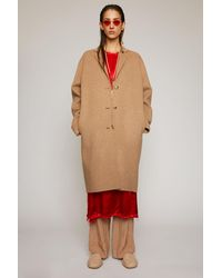 Acne Studios Single-breasted Wool Coat camel Melange - Natural