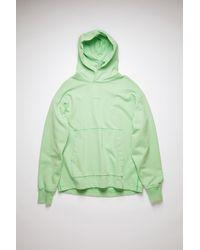 Acne Studios Fn-mn-swea000175 Mint Green Hooded Sweatshirt