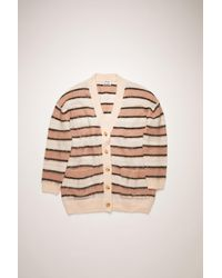 Acne Studios - Fn-wn-knit000186 Old Pink/multi Striped Cardigan - Lyst