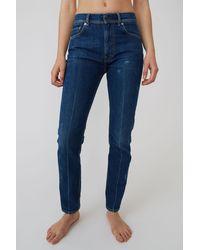 Acne Studios Slim Tapered Fit Jeans dark Blue