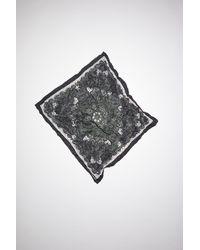 Acne Studios Bandana Print Scarf - Black