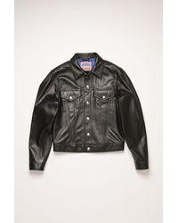 Acne Studios Leather Jacket black