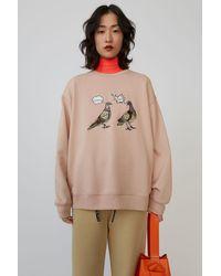 Acne Studios Animal-embroidered Sweatshirt old Pink