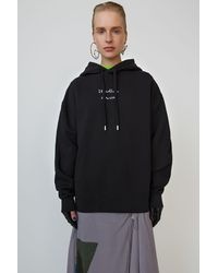Acne Studios Broken-logo Hooded Sweatshirt black