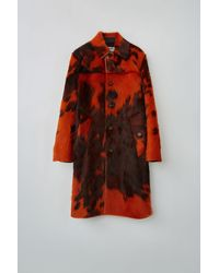 Acne Studios Fn-mn-leat000060 Orange/brown Cowhide Coat - Multicolour