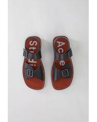 d45449066c4f Acne Studios - Leather Sandals black brown - Lyst