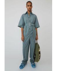 Acne Studios - Fn-wn-trou000117 Dusty Green Workwear Jumpsuit - Lyst