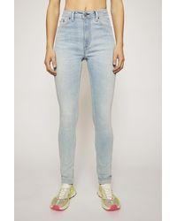 Acne Studios Peg Lt Blue Light Blue High-rise Skinny Jeans