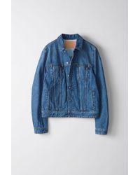 Acne Studios - Pass Mid Blu S Mid Blue Denim Jacket - Lyst