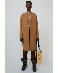 Acne Studios Fn-wn-outw000218 Camel Brown Tailored Coat