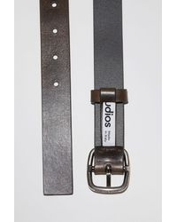 Acne Studios Classic Leather Belt - Grey