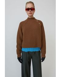 Acne Studios Ribbed Boxy Jumper toffee Brown