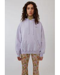 Acne Studios - Hooded Sweatshirt dusty Purple - Lyst
