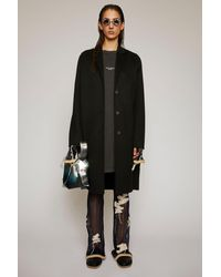 Acne Studios Single-breasted Wool Coat black