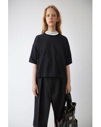 Acne Studios - Sporty Knit T-shirt black - Lyst