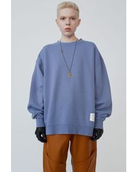 Acne Studios Crewneck Sweatshirt blue Melange