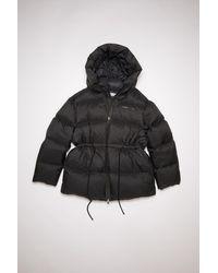 Acne Studios Hooded Puffer Coat - Black