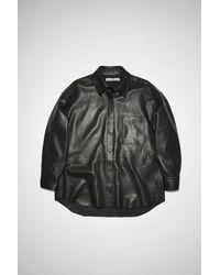 Acne Studios Fn-wn-leat000152 Black Leather Overshirt