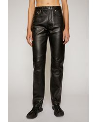 Acne Studios Leather Trousers black