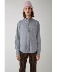 Acne Studios - Isherwood Chamb Sky Blue Classic Fit Shirt - Lyst