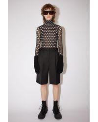Acne Studios Fn-wn-shor000022 Black Pleated Wool-blend Shorts
