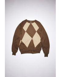 Acne Studios Sweatshirt mit Argyle-Muster - Braun