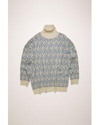 Acne Studios Flower Jacquard Sweater silver - Metallic