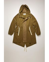 Acne Studios Tech-twill Fishtail Parka olive Green/taupe Grey