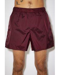 Acne Studios Swim Shorts burgundy - Red