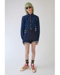 Acne Studios - Denim Shorts star Print - Lyst