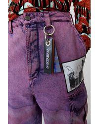 Acne Studios FN-UX-ACCS000002 Violet/vert Porte-clés Lenticular