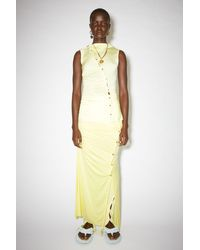 Acne Studios Fn-wn-skir000307 Lemon Yellow Asymmetric Skirt