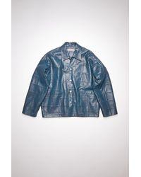 Acne Studios Leather Jacket - Blue