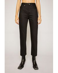 Acne Studios Cropped Straight Fit Jeans black
