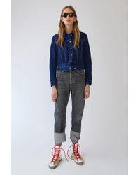 Acne Studios - Fitted Denim Jacket cobalt Blue - Lyst
