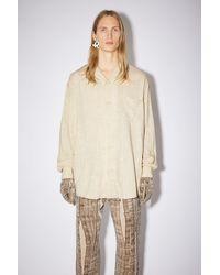 Acne Studios Long Sleeve Shirt - Natural