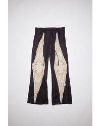 Acne Studios Sp-wn-trou000007 Black/white Linen Pants