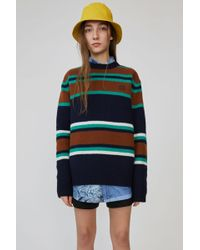 Acne Studios - Knit Sweater navy Multicolor - Lyst