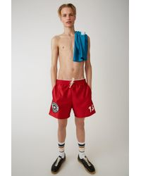 Acne Studios - Unisex Shorts ruby Red - Lyst